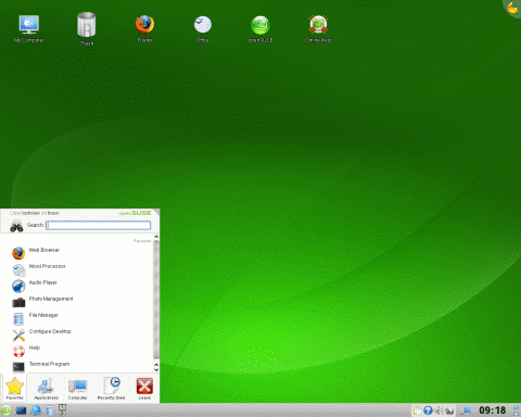screenshot opensuse-11.0
